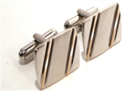 POLISHED SILVERTONE CUFF LINKS