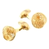 GOLDTONE SPIRAL KNOT CUFF LINK