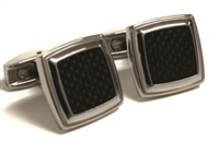 BLACK CARBON FIBER CUFF LINKS