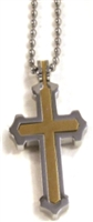 "STAINLESS  2PT CROSS 30"" BEAD CHAIN"