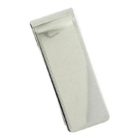 Sterling Silver Money Clip with Engraved Border