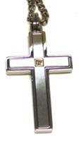 CROSS PENDANT 24' CURB CHAIN