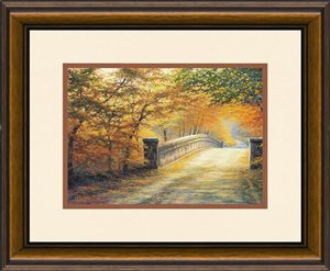 Autumn Bridge by Charles White 14x16