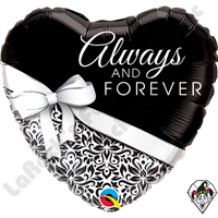 Qualatex 18 Inch Heart Always And Forever Foil Balloon 1ct