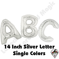 Betallatex 14 Inch Silver Letters Foil Megaloon Balloon 1ct