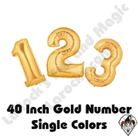 Betallatex 40 Inch Gold Numbers Foil Megaloon Balloon 1ct