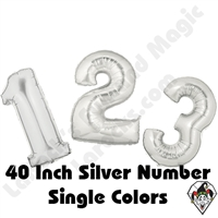 Betallatex 40 Inch Silver Numbers Foil Megaloon Balloon 1ct