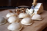 Large Round Gorgonzola Walnut Ravioli