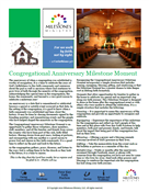 Congregational Anniversary Milestone Moment Download
