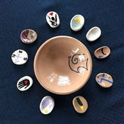 Blessing Bowl, Mat, and Stones for Meaningful Moments