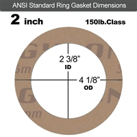 "Garlock 3500 Fawn Gylon® Ring Gasket - 150 Lb. - 1/8"" Thick - 2"" Pipe"