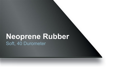 "40 Durometer Soft Neoprene Strips - (1 Pc Each Per Set) .5"" x 7"" x 7"" - .5"" x 12"" x 12"" - .5"" x 14.5"" x 14.5"" (With 6.4"" Center Hole) - .25"" x 1"" x 48"""