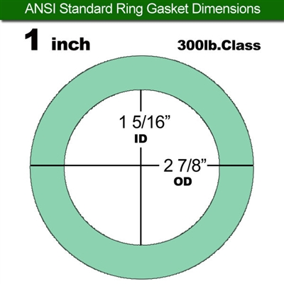 "Equalseal EQ750G Ring Gasket - 300 Lb. Class - 1/16"" - 1"" Pipe Size"