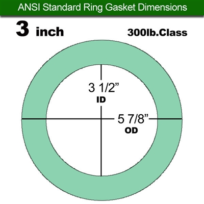 "Equalseal EQ750G Ring Gasket - 300 Lb. Class - 1/16"" - 3"" Pipe Size"