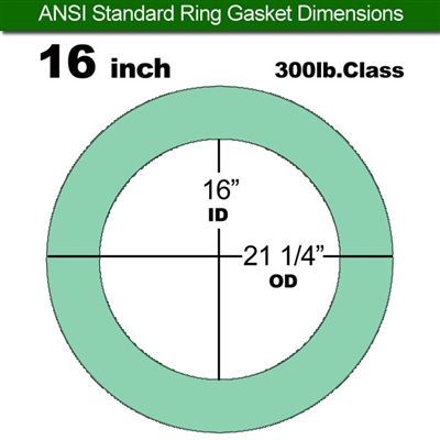 "Equalseal EQ750G Ring Gasket - 300 Lb. Class - 1/16"" - 16"" Pipe Size"