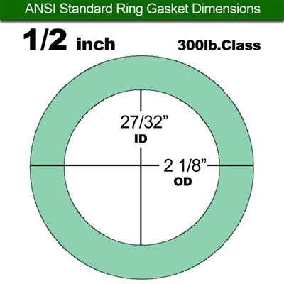 "Equalseal EQ750G Ring Gasket - 300 Lb. Class - 1/8"" - 1/2"" Pipe Size"