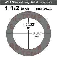 "Garlock Style 9850 N/A NBR Ring Gasket - 150 Lb. - 1/8"" Thick - 1-1/2"" Pipe"