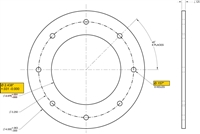 "Equalseal EQ 535 Custom Full Face Gasket - 1/8"" x 2.438"" ID x 4"" OD"