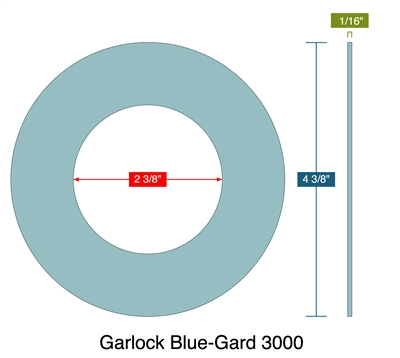 "Garlock Blue-Gard 3000 - Ring Gasket -  1/16"" Thick - 300 Lb - 2"""