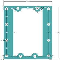 "C-4401 Green N/A Custom Gasket - 1/16"" Thick x 6.375"" x 7.062""  Waterside"