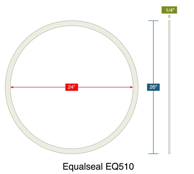 "Equalseal EQ510 - Ring Gasket -  1/4"" Thick - 24"" ID - 26"" OD"