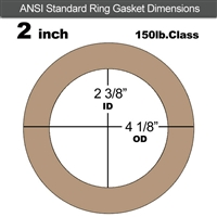 "Equalseal EQ 500 Ring Gasket - 1/16"" Thick - 150 Lb - 2"""