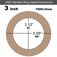 "Equalseal EQ 500 Ring Gasket - 1/16"" Thick - 150 Lb - 3"""