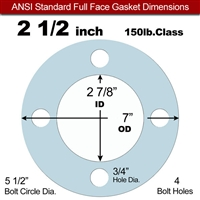 "Equalseal EQ 504 Full Face Gasket - 1/16"" Thick - 150 Lb - 2-1/2"""