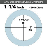 "Equalseal EQ 504 Ring Gasket - 1/16"" Thick - 150 Lb - 1-1/4"""