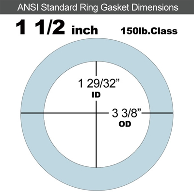 "Equalseal EQ 504 Ring Gasket - 1/16"" Thick - 150 Lb - 1-1/2"""