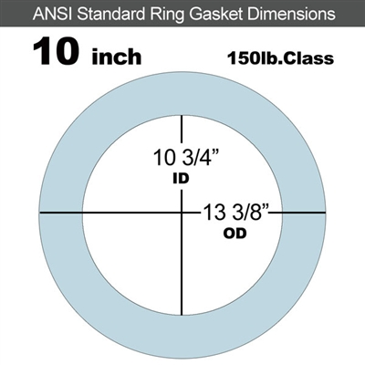 "Equalseal EQ 504 Ring Gasket - 1/16"" Thick - 150 Lb - 10"""