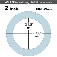 "Equalseal EQ 504 Ring Gasket - 1/16"" Thick - 150 Lb - 2"""