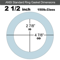 "Equalseal EQ 504 Ring Gasket - 1/16"" Thick - 150 Lb - 2-1/2"""