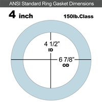 "Equalseal EQ 504 Ring Gasket - 1/16"" Thick - 150 Lb - 4"""