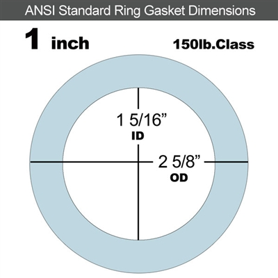 "Equalseal EQ 504 Ring Gasket - 1/8"" Thick - 150 Lb - 1"""