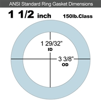 "Equalseal EQ 504 Ring Gasket - 1/8"" Thick - 150 Lb - 1-1/2"""