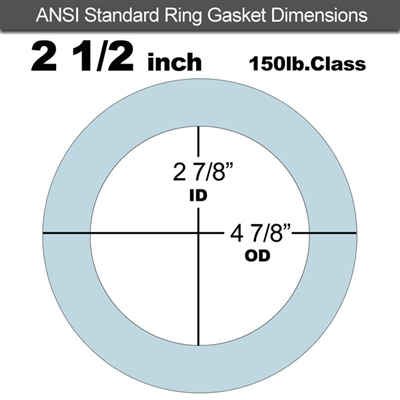 "Equalseal EQ 504 Ring Gasket - 1/8"" Thick - 150 Lb - 2-1/2"""