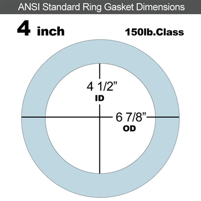"Equalseal EQ 504 Ring Gasket - 1/8"" Thick - 150 Lb - 4"""
