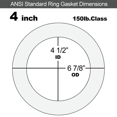"Equalseal EQ 510 Ring Gasket - 1/16"" Thick - 150 Lb - 4"""