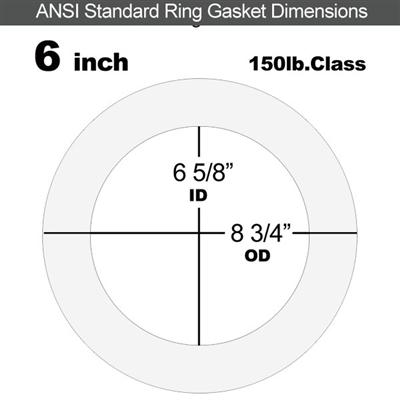 "Equalseal EQ 510 Ring Gasket - 1/16"" Thick - 150 Lb - 6"""