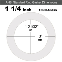 "Equalseal EQ 510 Ring Gasket - 1/8"" Thick - 150 Lb - 1-1/4"""
