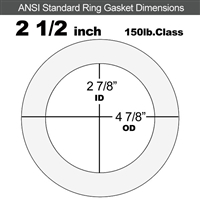 "Equalseal EQ 510 Ring Gasket - 1/8"" Thick - 150 Lb - 2-1/2"""