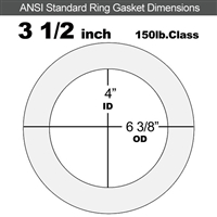 "Equalseal EQ 510 Ring Gasket - 150 Lb. - 1/8"" Thick - 3-1/2"" Pipe"