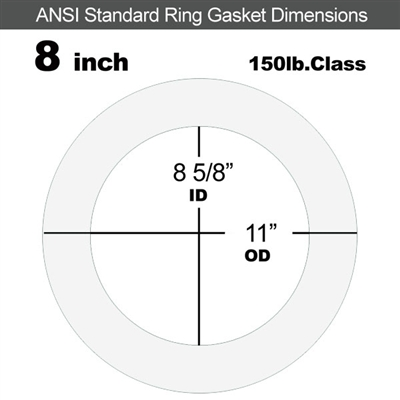 "Equalseal EQ 510 Ring Gasket - 1/8"" Thick - 150 Lb - 8"""