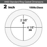 "Equalseal EQ 535exp Ring Gasket - 150 Lb. - 1/16"" Thick - 2"" Pipe"