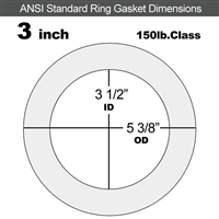 "Equalseal EQ 535exp Ring Gasket - 150 Lb. - 1/16"" Thick - 3"" Pipe"