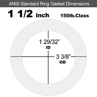 "Equalseal EQ 535exp Ring Gasket - 150 Lb. - 1/8"" Thick - 1-1/2"" Pipe"