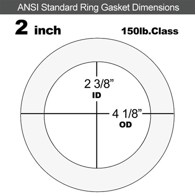 "Equalseal EQ 535exp Ring Gasket - 150 Lb. - 1/8"" Thick - 2"" Pipe"