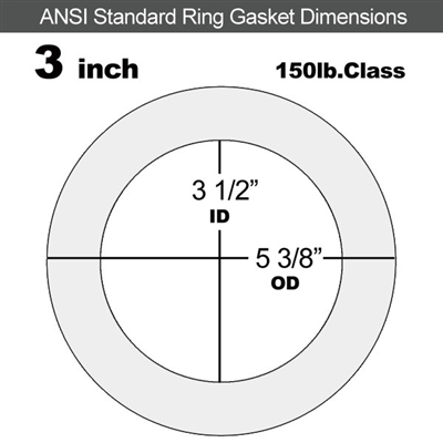 "Equalseal EQ 535exp Ring Gasket - 150 Lb. - 1/8"" Thick - 3"" Pipe"