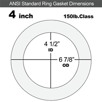 "Equalseal EQ 535exp Ring Gasket - 150 Lb. - 1/8"" Thick - 4"" Pipe"